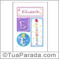 Nomes Elizabeth para imprimir em cartazes