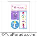 Nomes Fernanda para imprimir em cartazes