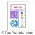 Nomes Abella para imprimir em cartazes
