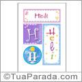Nomes Heli para imprimir em cartazes