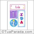 Nomes Ida para imprimir em cartazes
