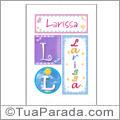 Nomes Larissa para imprimir em cartazes