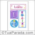 Nomes Idalia para imprimir em cartazes