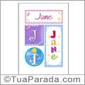 Nomes Jane para imprimir em cartazes