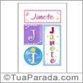 Nomes Janete para imprimir em cartazes