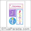 Nomes Jasmina para imprimir em cartazes