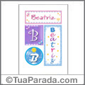 Nomes Beatriz para imprimir em cartazes