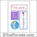 Nomes Elizabete para imprimir em cartazes