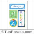 Nomes Abaçaí para imprimir em cartazes