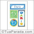 Nomes Darío para imprimir em cartazes