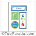 Nomes Emir para imprimir em cartazes