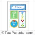 Nomes Flavio para imprimir em cartazes