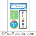 Nomes Franco para imprimir em cartazes