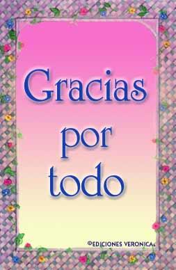 Gracias Por Todo Gracias Tarjetas