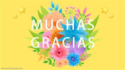 Muchas gracias con flores