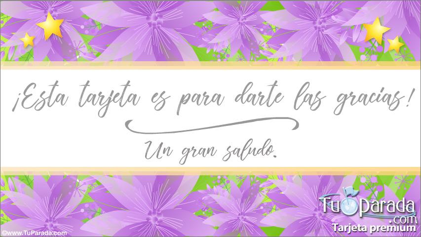 Tarjeta - Tarjeta de gracias en lila