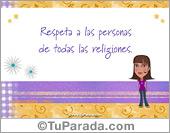 Respeta a todas las religiones