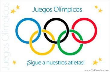 Postal de Juegos Olímpicos
