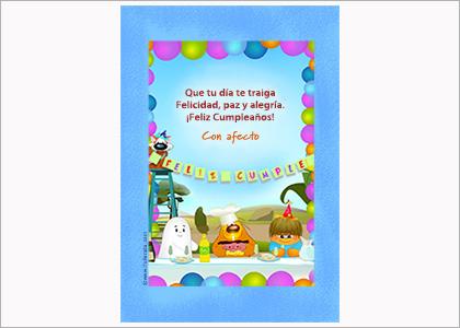 Tarjeta para imprimir de festejo