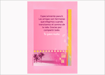 Tarjeta Especialmente - Para imprimir