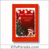 Tarjeta de colores navideños - Para todos los dispositivos.