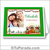 Tarjeta con foto de Navidad - Para todos los dispositivos