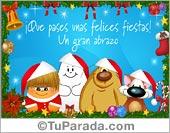 Tarjeta de Navidad de buenos deseos