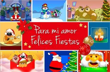 Tarjeta de Navidad romántica