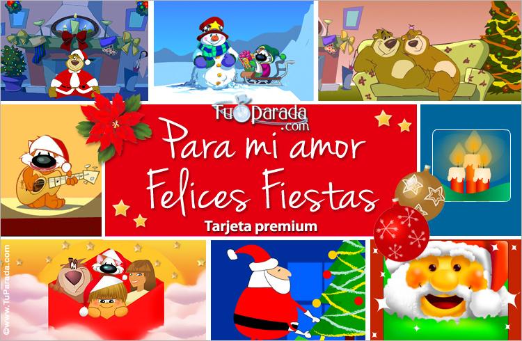 Tarjeta - Tarjeta de Navidad romántica