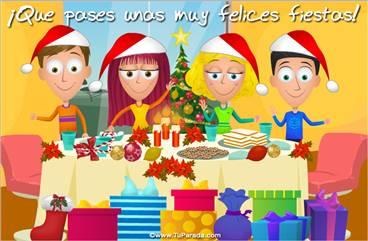Tarjeta de mesa navideña