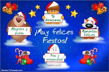 Tarjeta animada alegre de Navidad