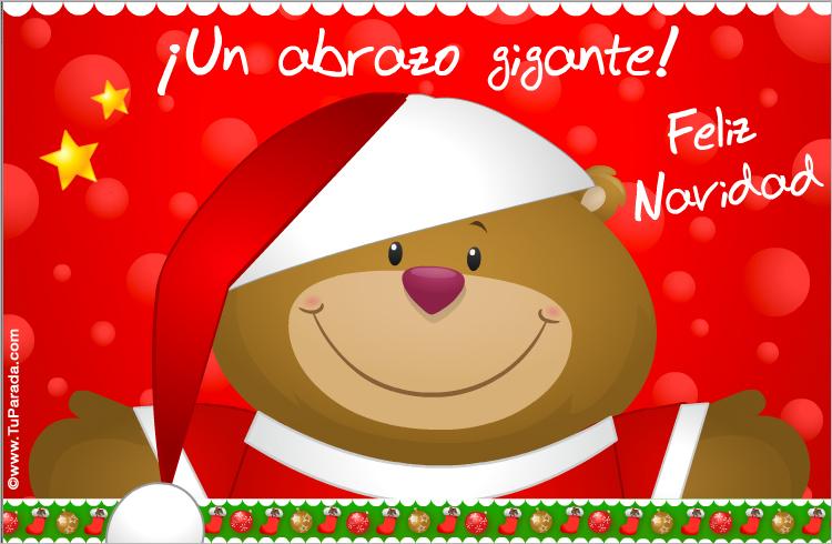 Tarjeta - Tarjeta de Navidad con oso navideño