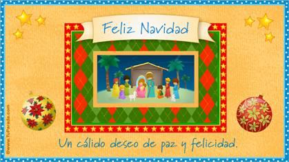 Tarjeta de Pesebres navideños