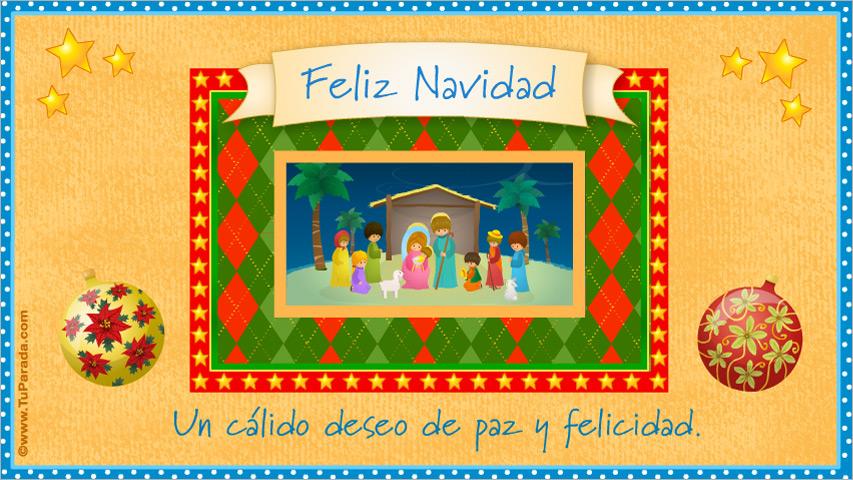 Tarjetas de navidad con imagenes de pesebres