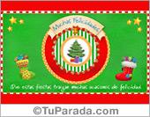 Postal de Navidad con pino