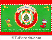 Tarjeta de Navidad tradicionales