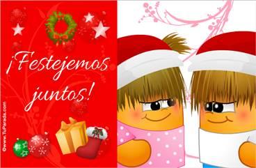 Tarjetas, postales: Fiestas de diciembre