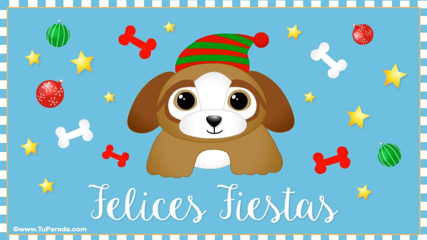 Tarjeta - Tarjeta de Navidad con perrito