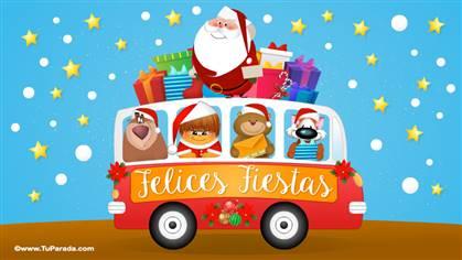 Saludo navideño con Papá Noel
