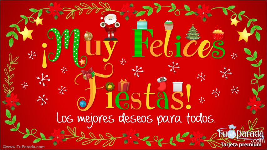 Felices Fiestas Y Los Mejores Deseos Navidad Tarjetas