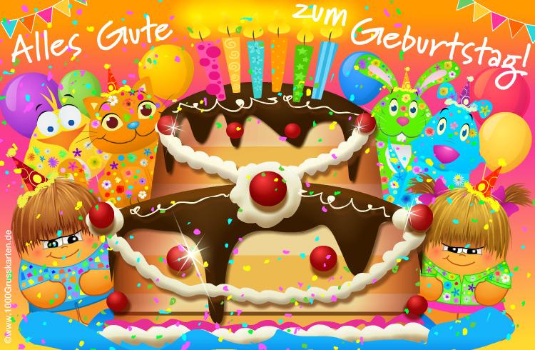 Geburtstagskarte Mit Kuchen Geburtstag E Cards