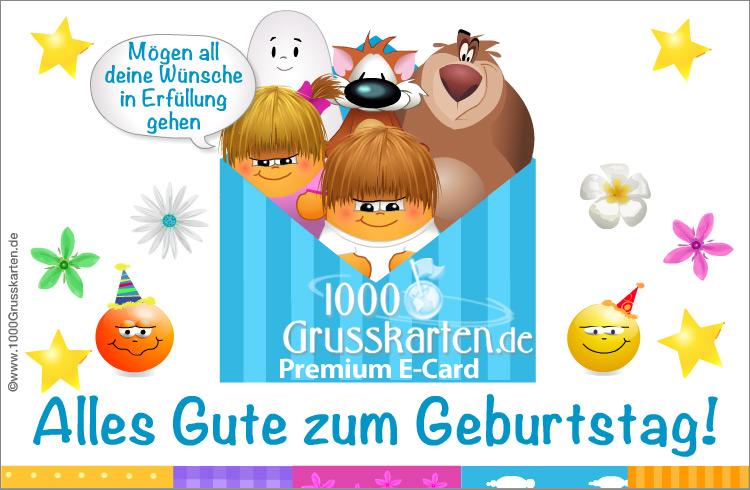 E-Card - Geburtstagskarte zu teilen