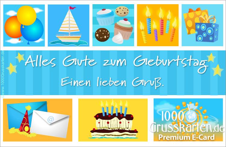 E-Card - Blau Geburtstag E-Karte