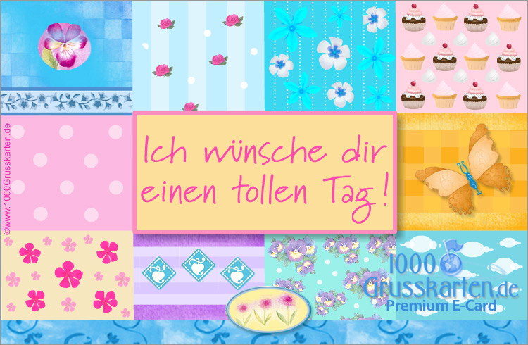E-Card - Geburtstag E-Karte mit Blumen