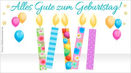 Geburtstag ecard mit Kerzen