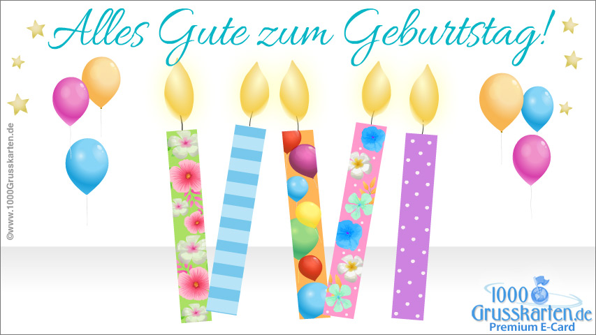 E-Card - Geburtstag ecard mit Kerzen