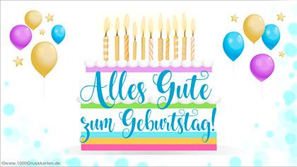 Festliche Geburtstagskarte