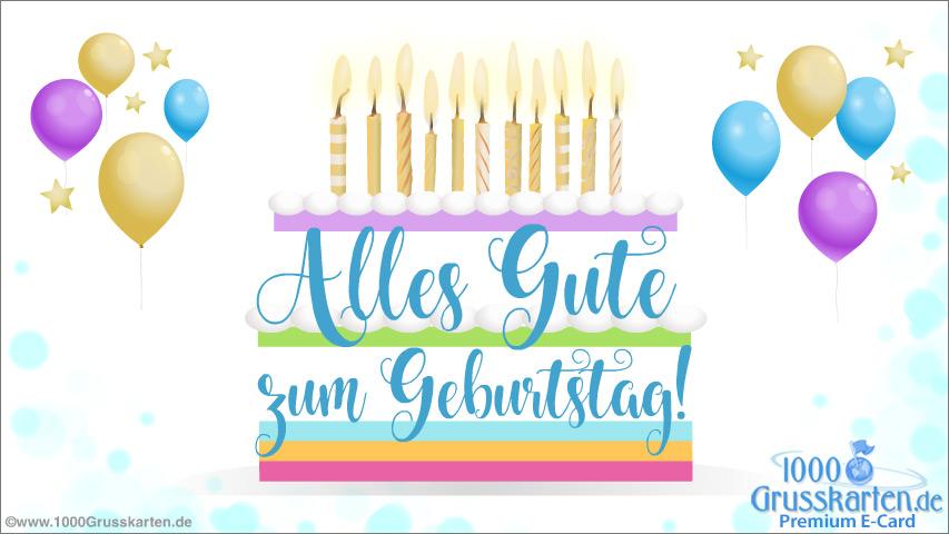 E-Card - Festliche Geburtstagskarte