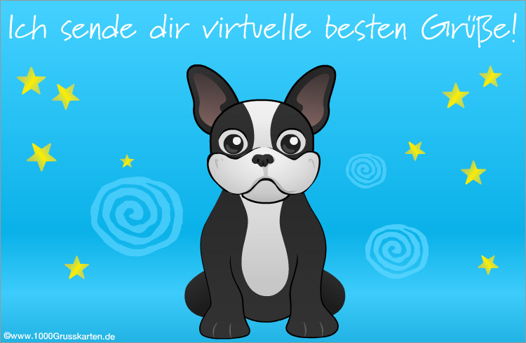 E-Card - Hund mit virtuellen Gruß