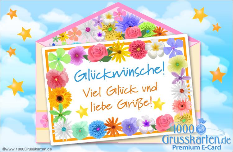 E-Card - Grußkarte mit Blumen